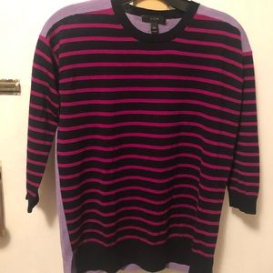 J crew women 2 tone stripes wool sweater XXS